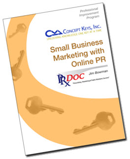 Cover of Small Business Marketing with Online PR.